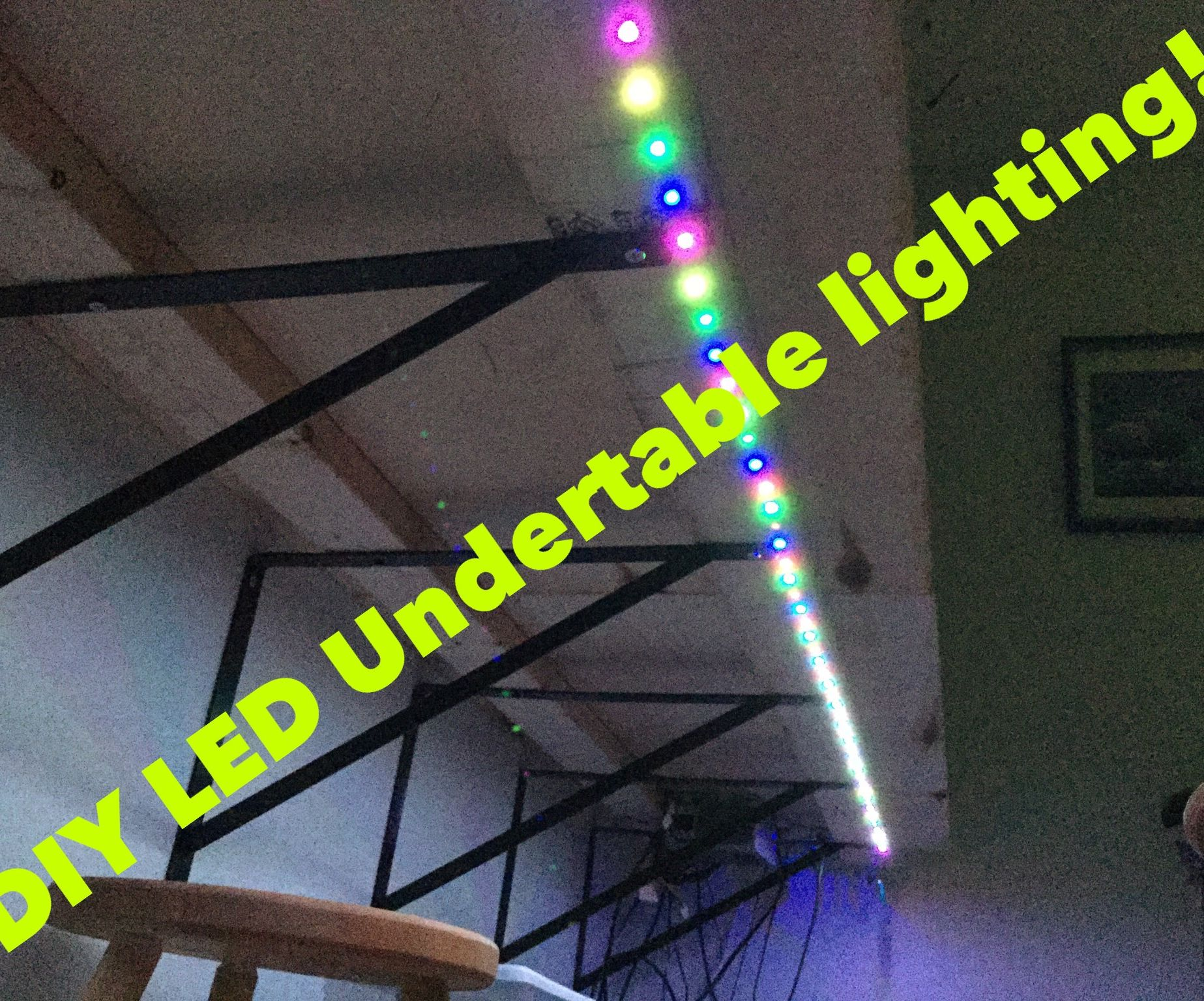 Under table LED lighting (with WS2821b LEDs)