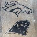 Super Bowl Fan Pride Temporary Stencil