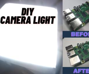用铝箔DIY相机灯