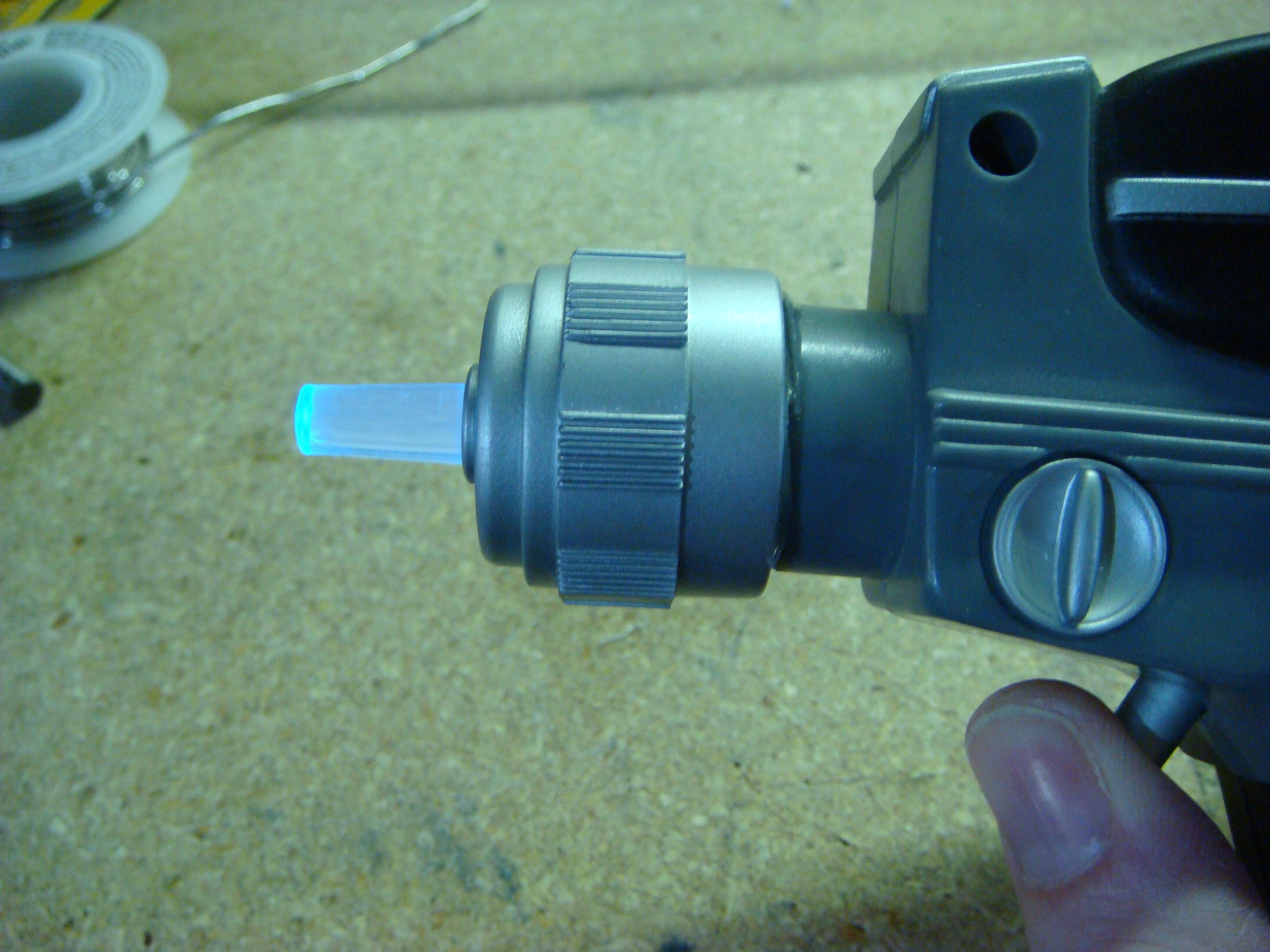 10-min. Star Trek Phaser flashing LED mod