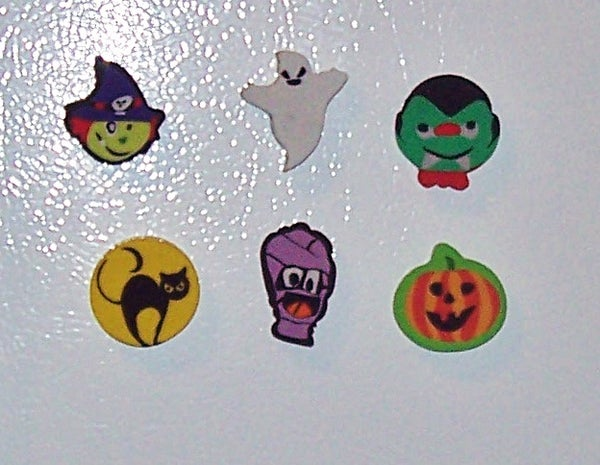 Halloween Eraser Magnets