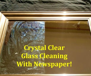 Crystal Clear Window Cleaning With Newspaper!