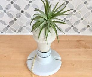 Cement Light Bulb Planter