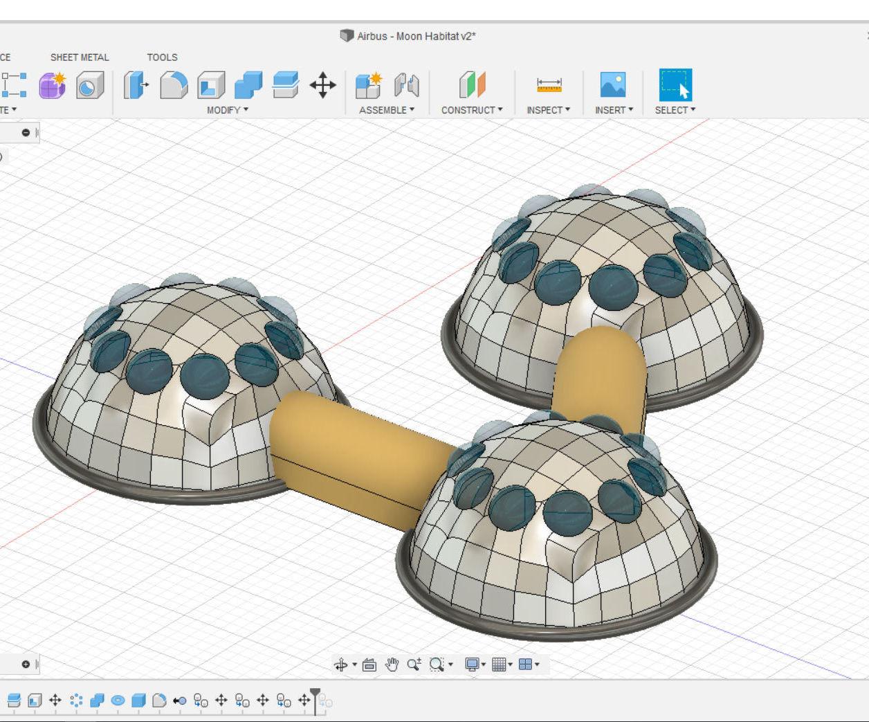 Design a Moon Habitat in Fusion 360