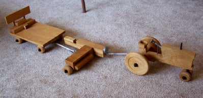 Wooden Farm Toys for Haymaking