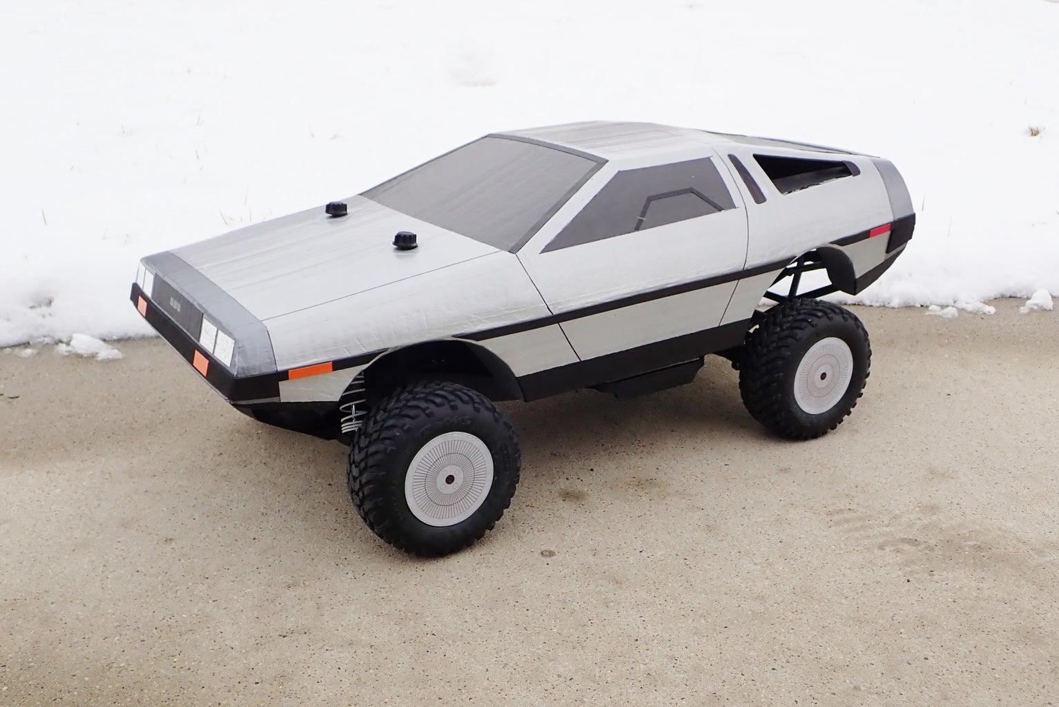 Make a Cardboard DeLorean RC Body