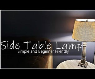 DIY Lamp From a Table Leg