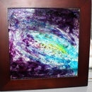 Galaxy Glass Art