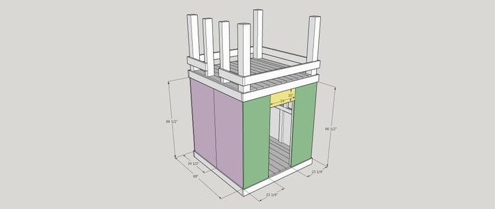 Step 11:  Door and Ladder Side Walls