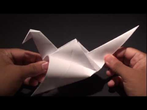 How to Make an Origami Flapping Crane!