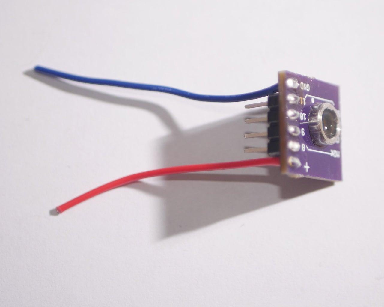 Soldering Sensor Onto Breakout Board