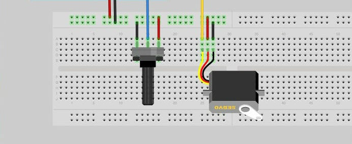 Wiring Up the Servo and Potentiometer to Your LinkIt ONE