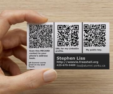 Nerdy Business Card With Three QR Codes