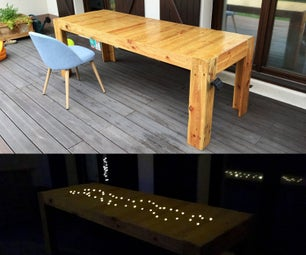 Pallet Dining Table With Solar Lights
