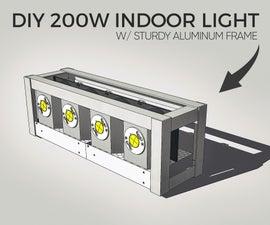 DIY 200W Indoor Light W/ Sturdy Aluminum Frame