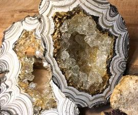 Fabulous Fake Concrete Geodes