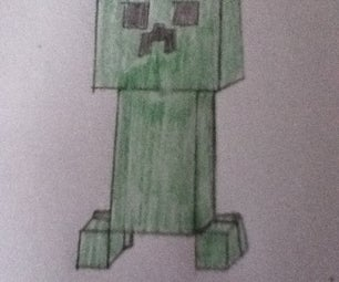 How to Draws a Creeper