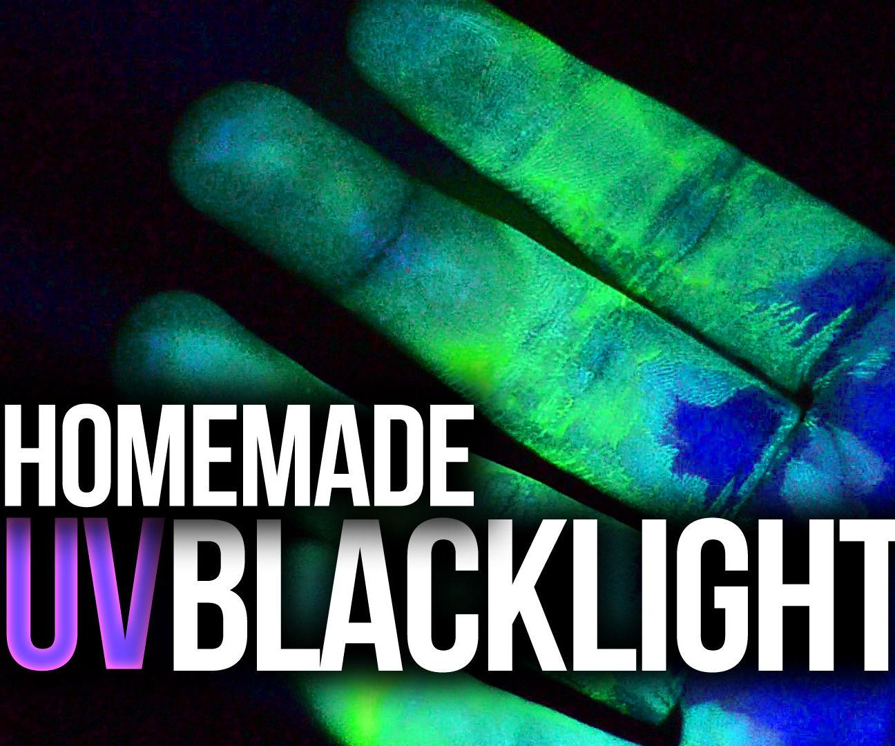 Make a UV black light at home