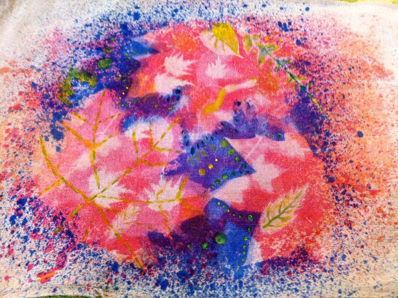 Nature Splattered Fabric (with Inkodye)