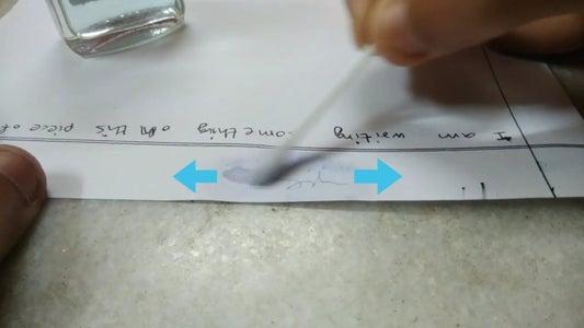 Rub Acetone on Ink