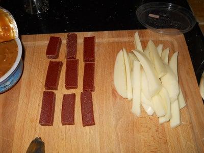 Preparing Bocadillo and Cheese