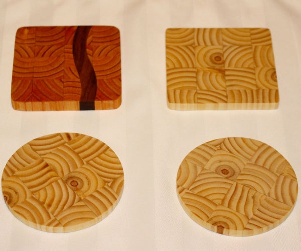 2x4 End Grain Coasters: 3 Styles