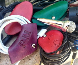 Personalized Leather Cord-Keepers