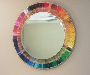Rainbow Colored Pencil Mirror