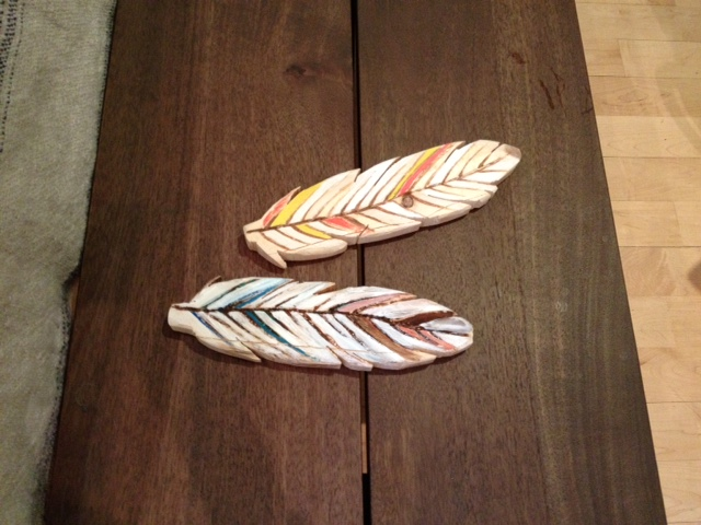 How to make wooden feathers