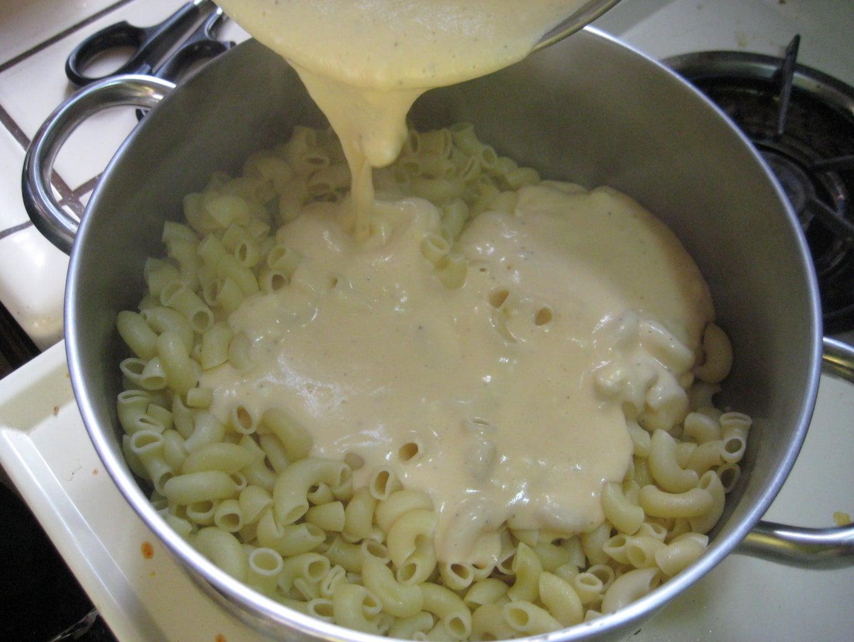 Making the Mac & Cheese