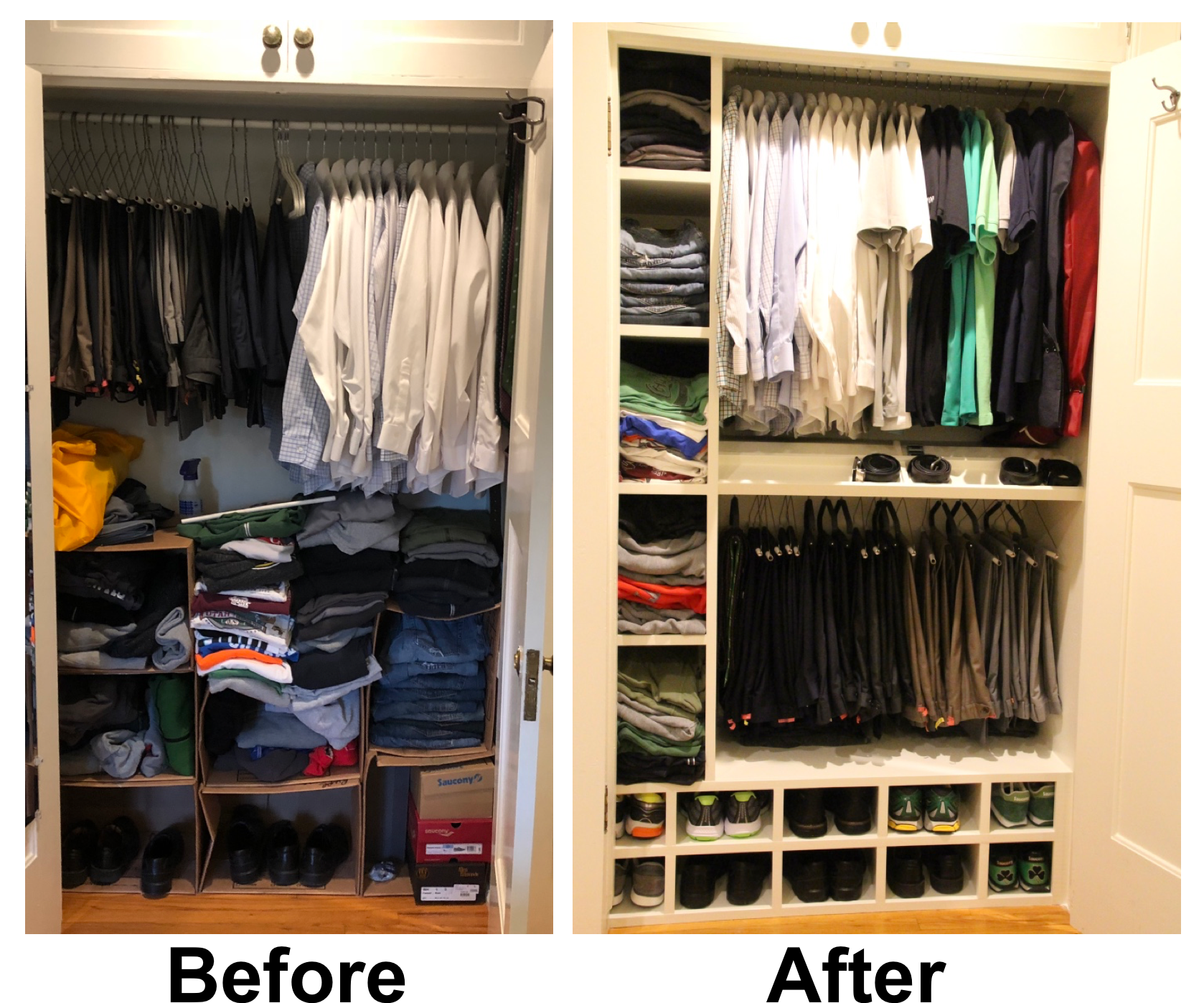 Closet Transformation - Fixing an Old Closet