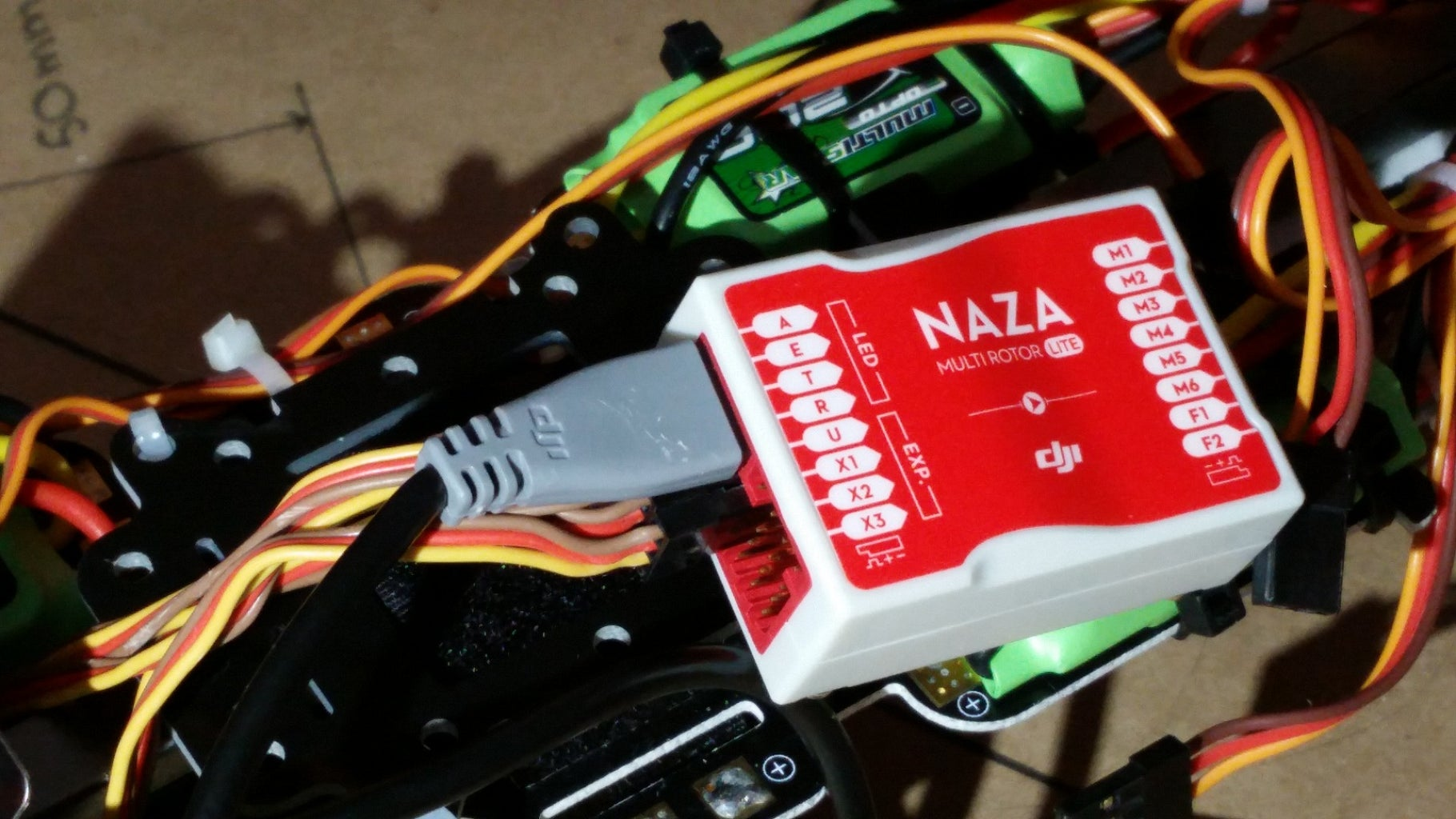 Connect the LED Indicator to the Naza M Lite