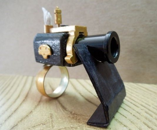 Steampunk cannon Ring