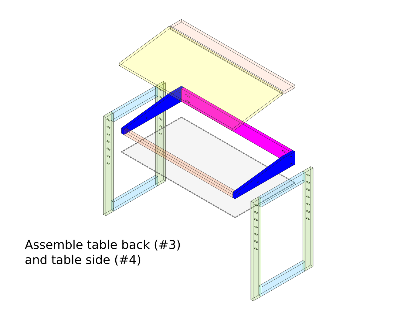 Assemble the Table Top and the Storage