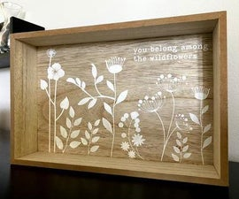 Decorate a Wood Tray Using Vinyl As a Stencil