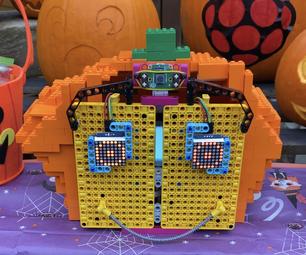 A LEGO® Robot Pumpkin