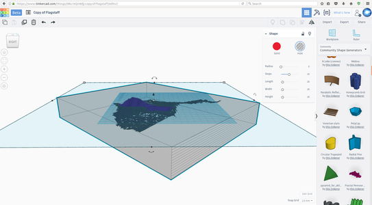 Clean Your Terrain2stl File in Tinkercad