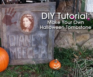 DIY Halloween Tombstone