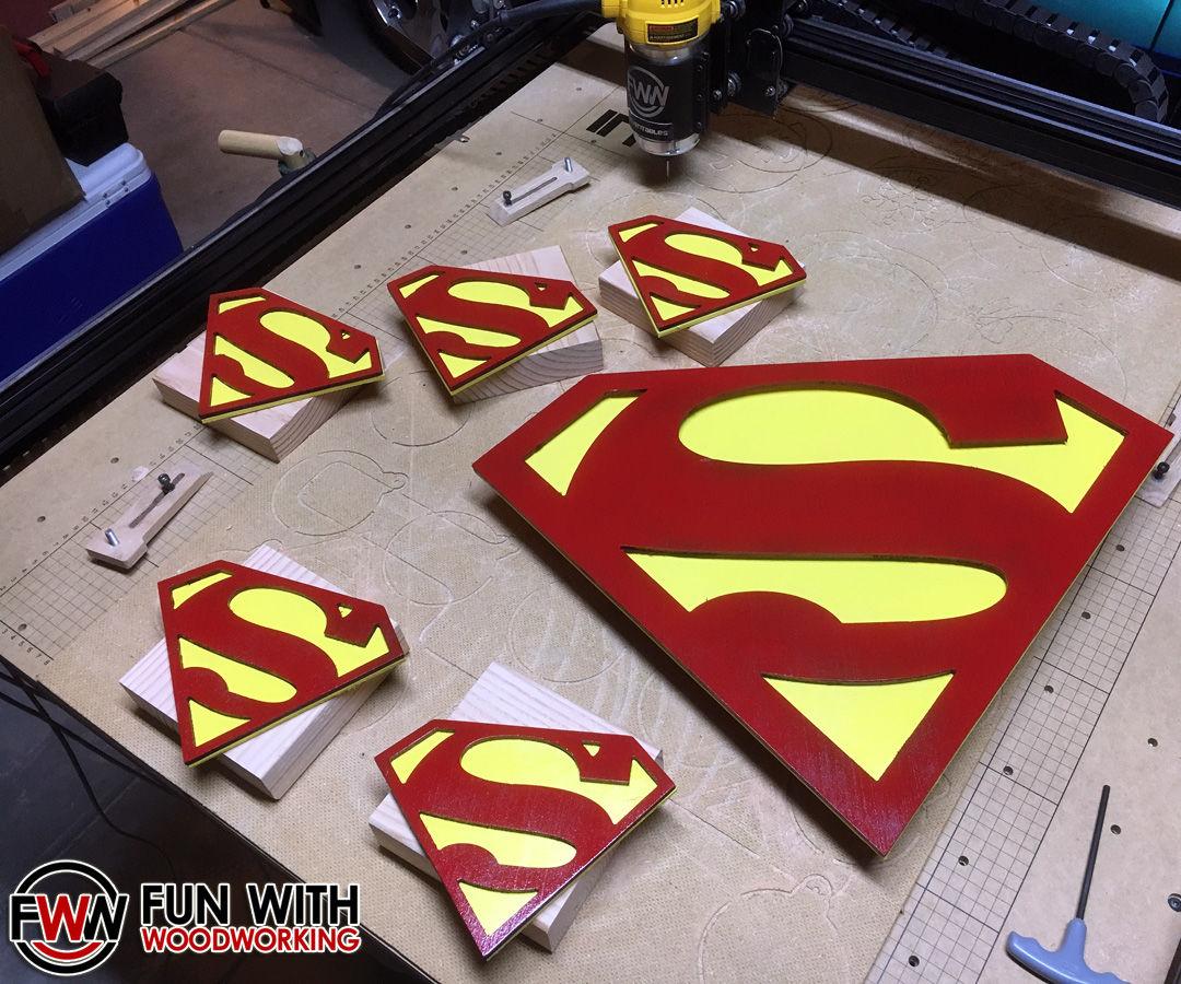 Project - CNC Superman logos