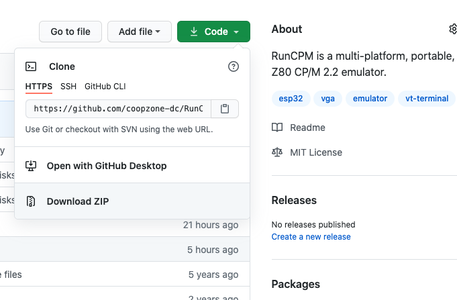 Download the Modified RunCPM Project