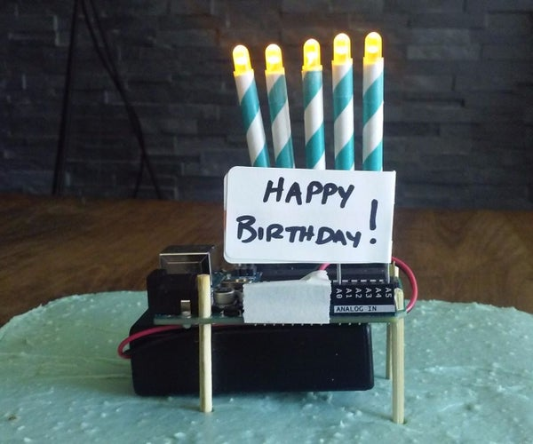 Arduino Birthday Cake Topper