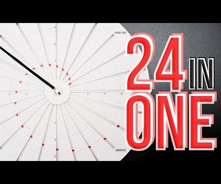 24 in 1 Clock - a Clock Tells Time of All Time Zones. Made From Paper