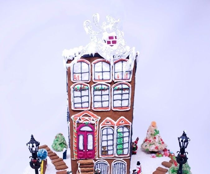 Gingerbread Apartment Building (Vegan)