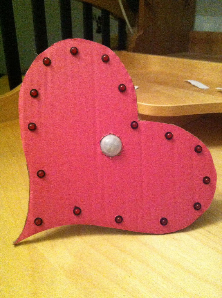 Valentines Day Motion Activated LED Heart