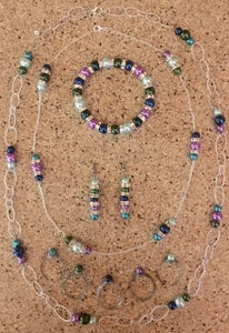 Homemade Beaded Jewelry Set