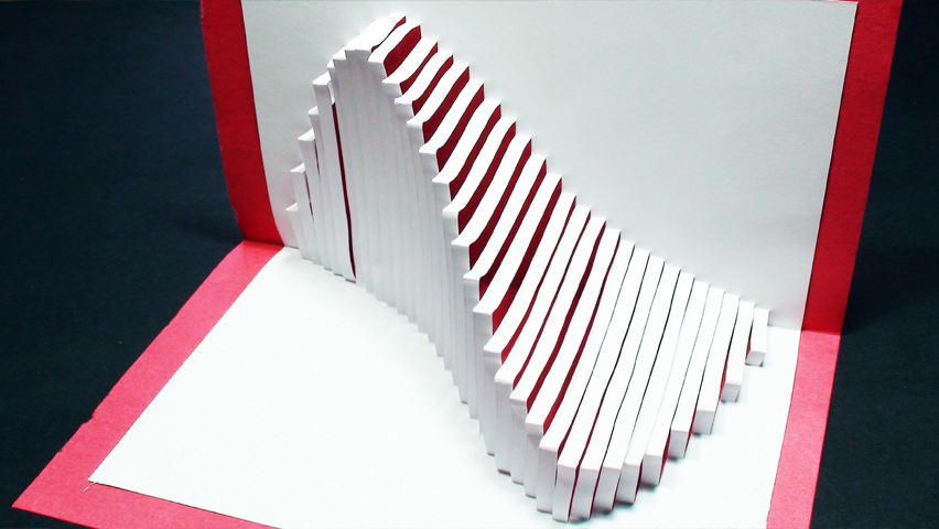 How to make a Wave Pop Up Card (Kirigami 3D) Ocean Wave Greeting Card - TCGames [HD]!
