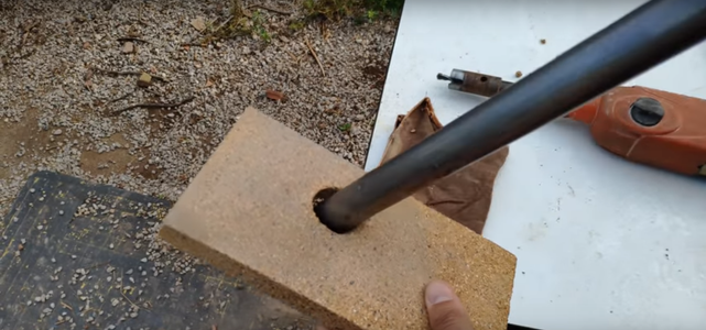 Make a 25mm Hole in the Fireproof Brick