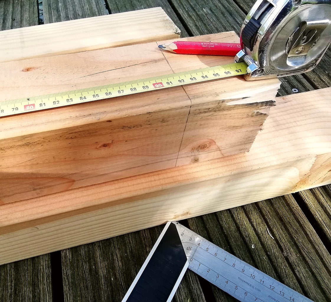 Cut the Wood for the Posts to the Desired Size