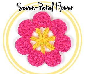 How to Crochet a Seven Petal Flower