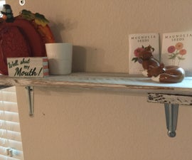 Rustic Shelf From Recovered Fence Pickets